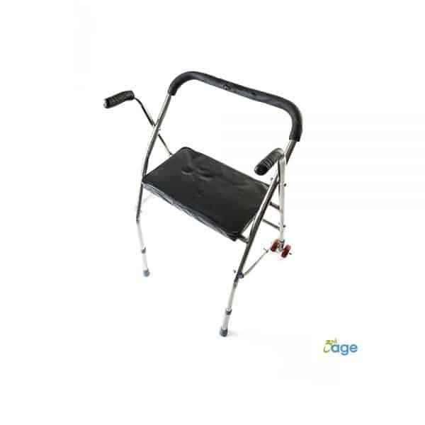 הליכון לקשישים עם כיסא מתקפל - הגיל השלישי