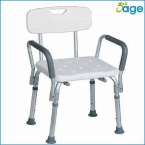 כסא משענת עם ידיות לרחצה