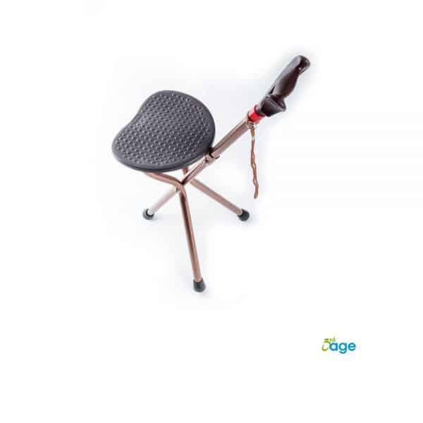 מקל הליכה עם כסא מתקפל