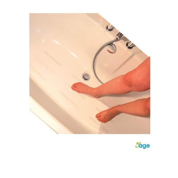 מדבקות לאמבטיה - פסים נגד החלקה