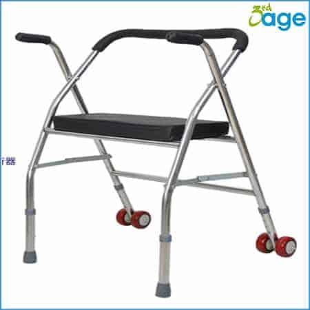 הליכון לקשישים עם כיסא מתקפל