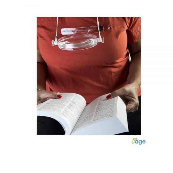 זכוכית מגדלת לתלייה על הצוואר - הגיל השלישי